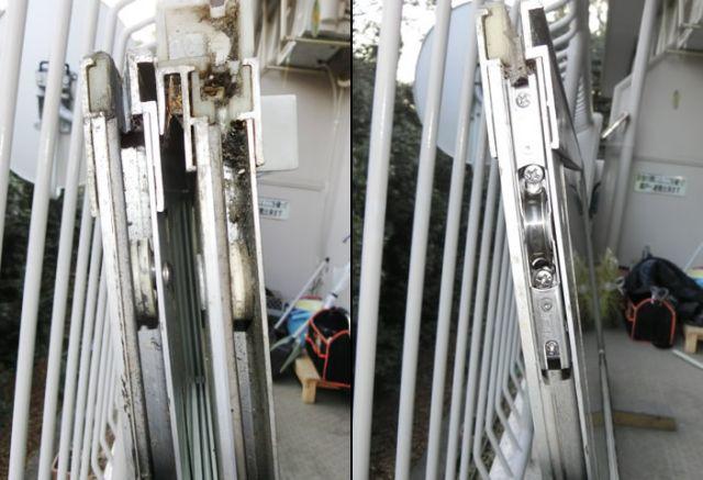 サッシの戸車修理、交換 名古屋市天白区