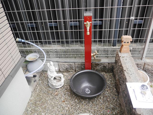 エクステリア水栓工事 ユニソンスプレスタンド 名古屋市港区