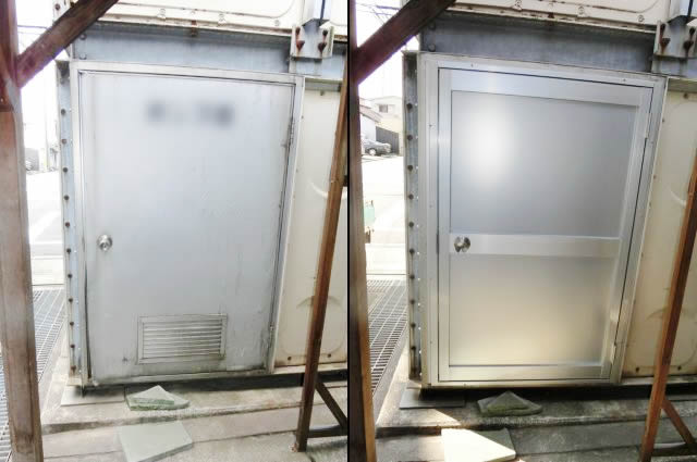 アルミ框ドア取付工事 名古屋市南区