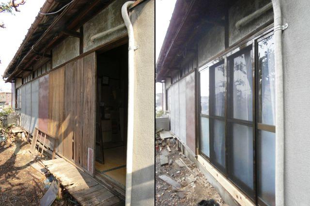 木製窓からアルミサッシ取替工事 名古屋市瑞穂区