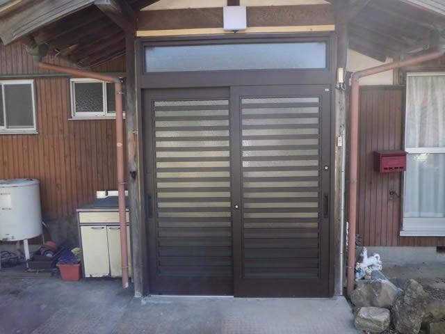 玄関のリフォーム工事 LIXIL玄関引戸花伝 名古屋市緑区