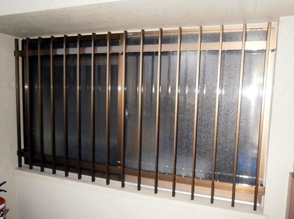 窓の防犯対策 アルミ面格子取付工事 名古屋市天白区