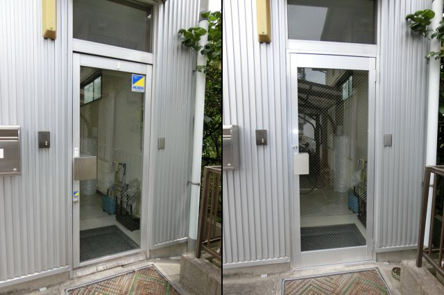 事務所ドア改修工事 名古屋市中川区