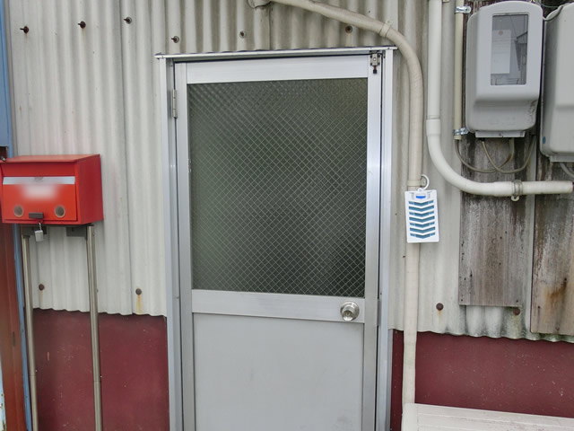 ロンカラーガラスドア ガラス修理、交換 名古屋市港区