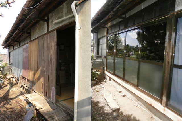 木製窓からアルミサッシへリフォーム工事 名古屋市瑞穂区