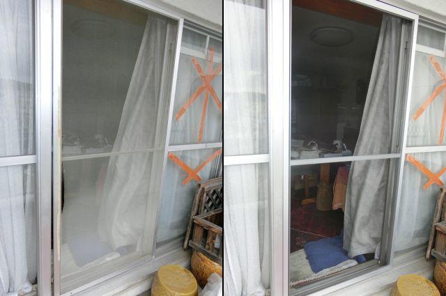 マンション掃出し窓用網戸新設 名古屋市千種区