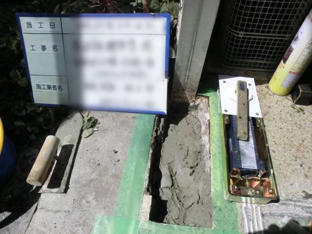 フロアヒンジ取替工事 フロアヒンジ油漏れ 名古屋市港区