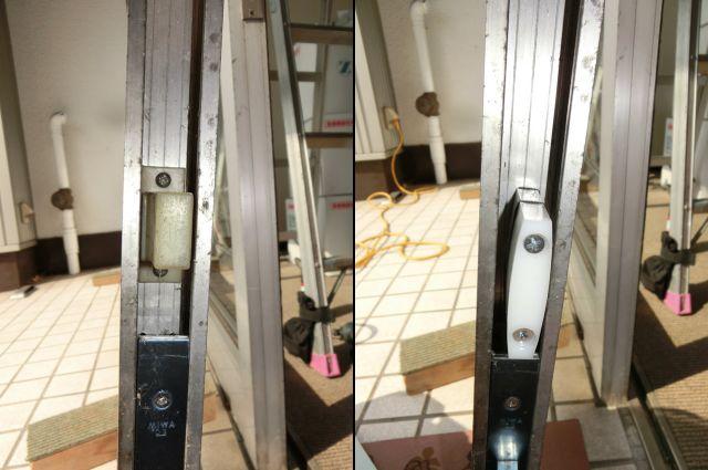 自動ドア装置修理対応 カギがかかりづらい 名古屋市中川区