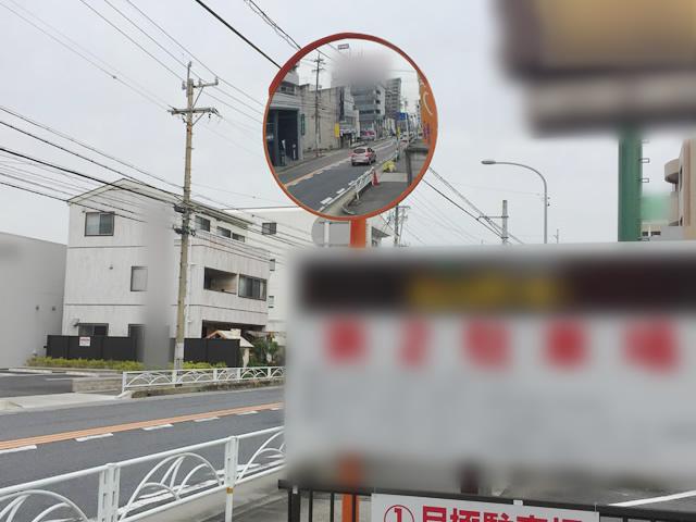 駐車場のカーブミラー取付工事 春日井市
