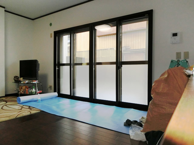 窓の結露対策、防犯対策 リクシル内窓インプラス 春日井市