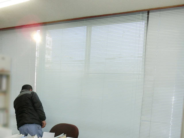ヨコ型ブラインド タチカワ シルキー25 名古屋市南区