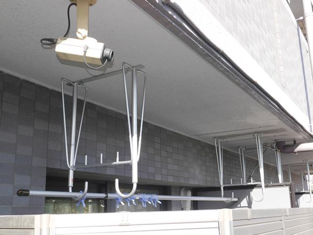 マンション1F バルコニー物干し金物取付工事 名古屋市中川区