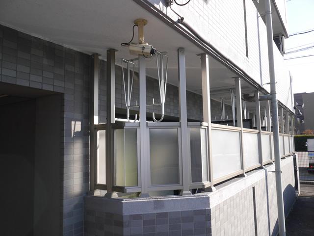 1階ベランダ目隠しスクリーンパネル工事 名古屋市中川区