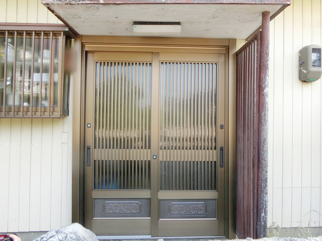 玄関引戸リフォーム LIXILリシェント玄関引戸 名古屋市天白区
