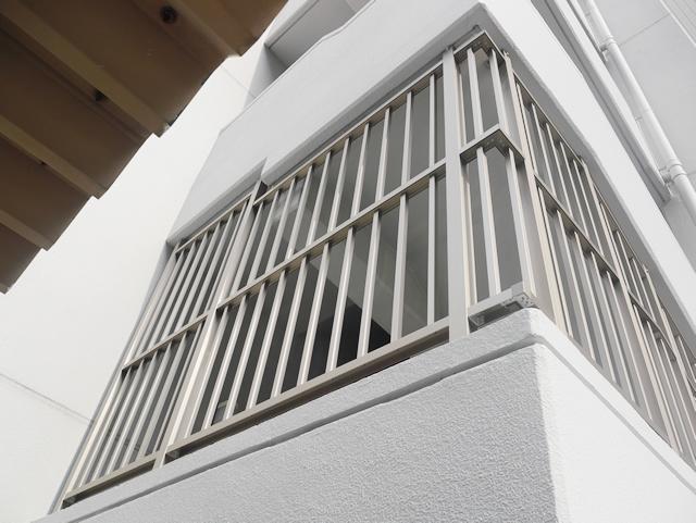 マンション共用部 侵入防止柵取付工事 名古屋市中区