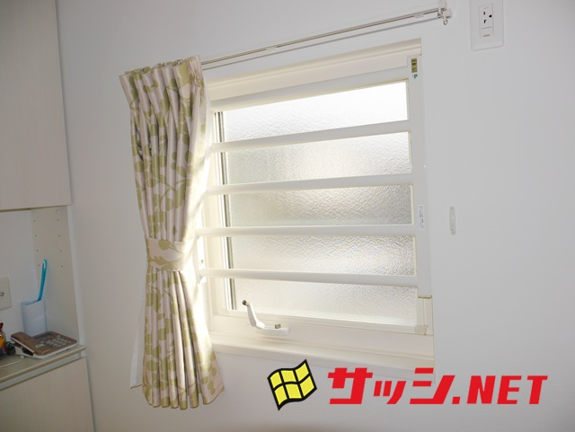 LIXIL室内面格子 外開き窓の防犯対策 名古屋市緑区