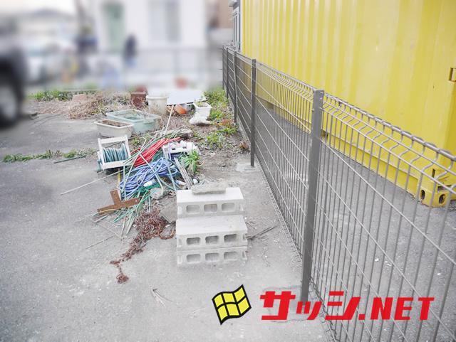 駐車場隣地境界フェンス取付工事 名古屋市中川区