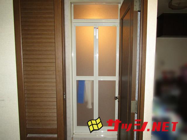 浴室中折れドア取替工事 名古屋市中村区