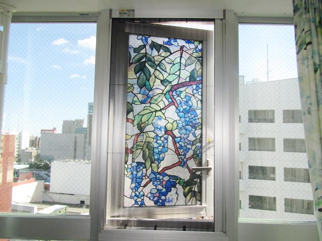 名古屋市中区 アコーディオン網戸「アルマーデ」取付工事